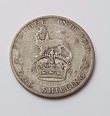 1925 - Silver - One Shilling - Great Britain - King George V - English UK Coin