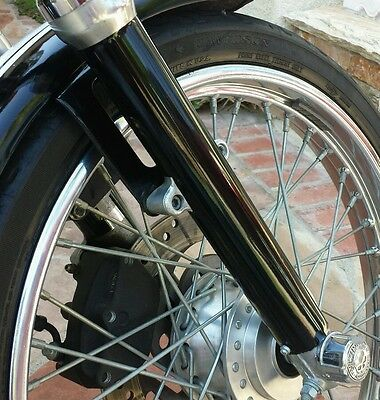 Black Harley Davidson Lower Fork Covers Decals Sportster Nightster Iron 48 86-09