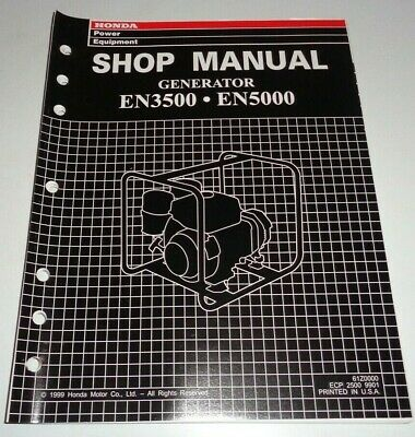 Honda En3500 En5000 Generator Service Shop Repair Workshop Manual Original