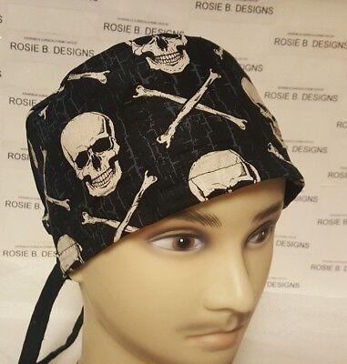 BONES AND SKULLS   / MEN'S  SCRUB CAP/SURGICAL HAT ](Bones And Skulls)