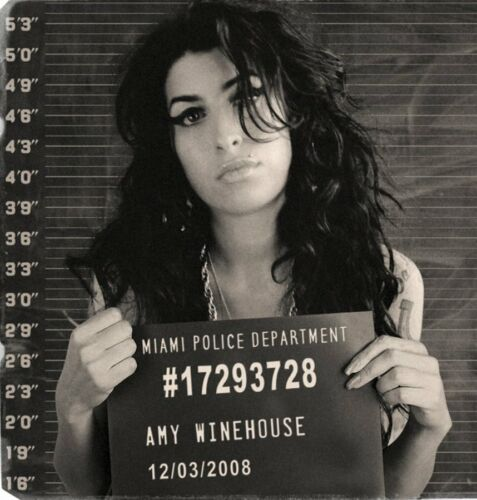 Amy Winehouse Arrest Mug Shot High quality Photo Reproduction