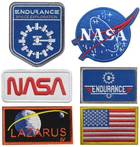 "Space Exploration Lazarus Endurance Top Gun NASA Patch [6PC ""Iron on Sew on]"