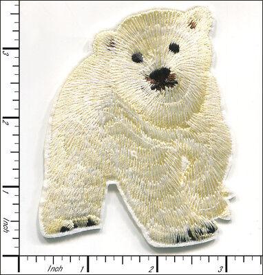Polar Bear Patch - 10 Pcs Embroidered Iron/Sew on patches Polar Bear AP016hA