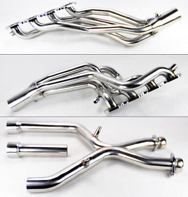 Performance Long Tube Headers & X Pipe For Ford Mustang 96-04 Cobra Mach 1 4.6L ()