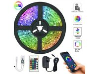 5M LED Strip Lights with remote control and APP!