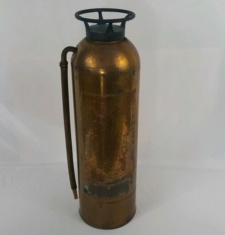 Vintage Fire Extinguisher Good Condition Missing Face Plate