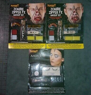 Zipper Face For Halloween (Zipper Face FX Makeup Kit for Adult Halloween Costume Bloody)