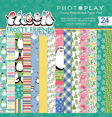 Scrapbooking Crafts PP 6X6 Paper Pad Frosty Friends Penguins Snowmen Christmas](Paper Christmas Crafts)
