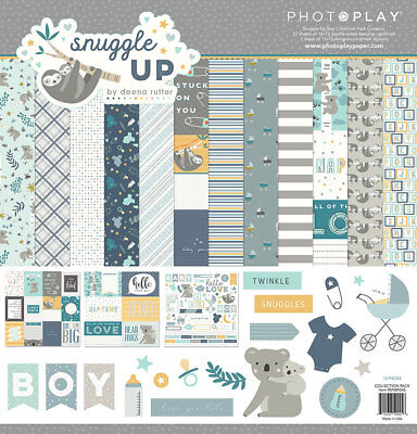 - Scrapbooking Crafts PP 12X12 Paper Pack Snuggle Up Baby Boy Blocks Koala Bears