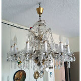 BROOKLYN NY PICK UP ONLY- Vintage Crystal Chandelier - Handcrafted