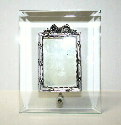 Borders Frame Picture Frame Beveled Glass Silver Resin Post Stand 'Chip' 2