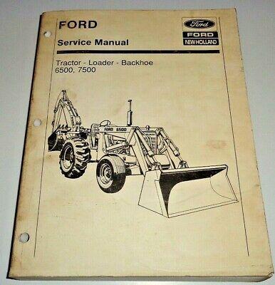 Ford 6500 7500 Tractor Loader Backhoe Service Shop Repair Workshop Manual Oem