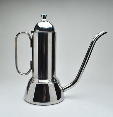INOX - Very Sleek and Modern Italian Coffee server or Tea Pot Stainless Steel