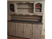 Painted Solid Pine Welsh Dresser Display Cabinet