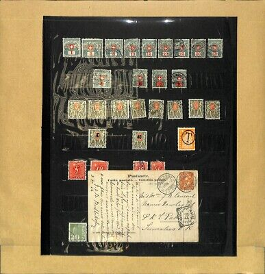 [OP7849] Switzerland lot of stamps on 10 pages