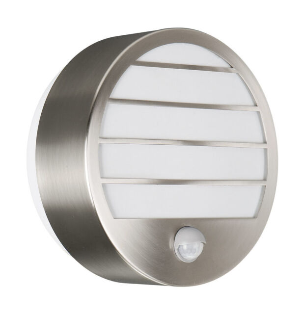 IP44 Outdoor Wall Light With PIR Motion Sensor In Silver Finish 18W Low Energy