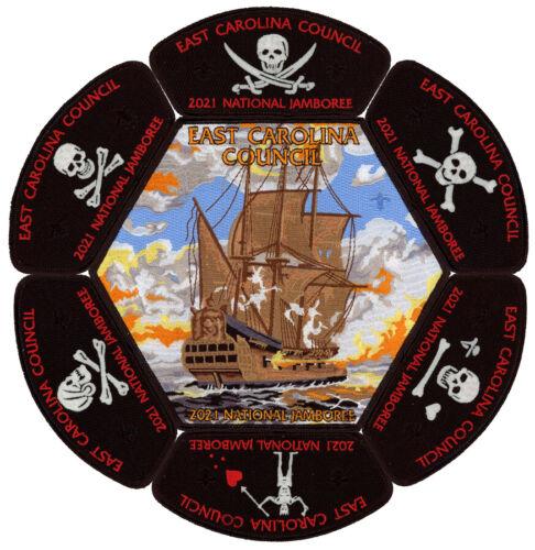 2021 National Jamboree East Carolina Council JSP CSP Pirate Patch Badge Set Lot