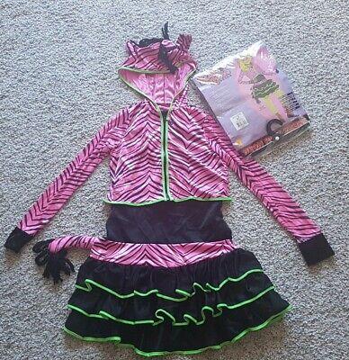 Neon Pink Zebra Kostüm Gr. L (8-10J) 《TOP - Neon Zebra Kostüm
