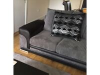 SCS Voyage 2 seater scatter cushion design black and grey