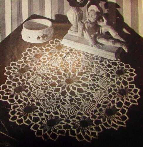 Vintage 1949 Crochet PATTERN for Black Eyed Susan Doily