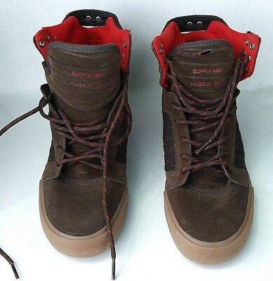 Supra Skytop Herren Größe 6,5 Muska 001 Schuhe Hightop Leder Braun Stiefel #S70 (Supra Schuhe Herren High-tops)