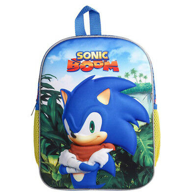 Sonic The Hedgehog Backpack Cartoon nursery School Bag Child Anime Shoulders Bag