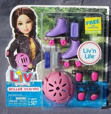 Patines Patinaje Accesorio Sport Liv Doll Muñeca Spin Master 'N Life Raro NRFB, usado segunda mano  Embacar hacia Argentina