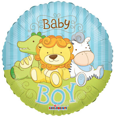 Baby Boy Jungle Animals Balloon - Alligator Lion Zebra Shower Party Supplies