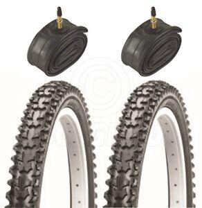 2 Bicycle Tyres Bike Tires - Mountain bike - 26 x 1.95 - With Presta Tubes