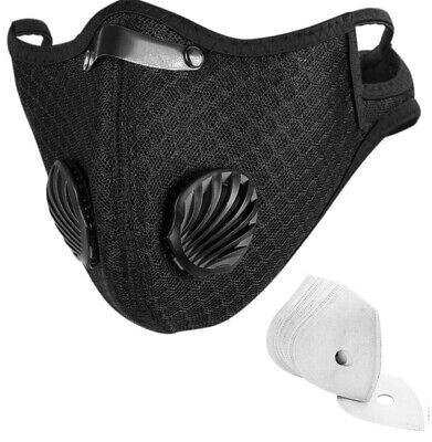 Mundschutz Sportmaske Atemschutzmaske,Wintermaske , Waschbar + 3 Filter Gratis,
