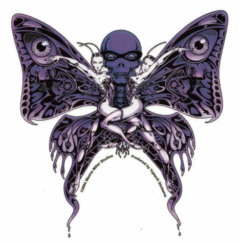Bizarre Purple Butterfly Skull Fairy Showgirls Devils Spider Sticker Cool Decal