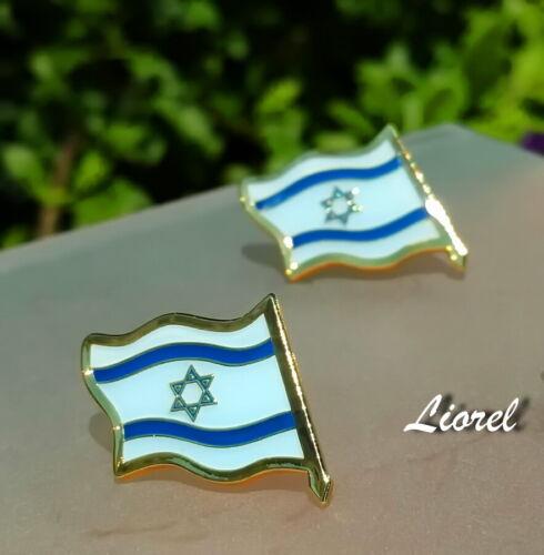 LOT of 4 ISRAEL Country FLAG LAPEL PIN Shirt Badge,Israeli Star of David Judaica