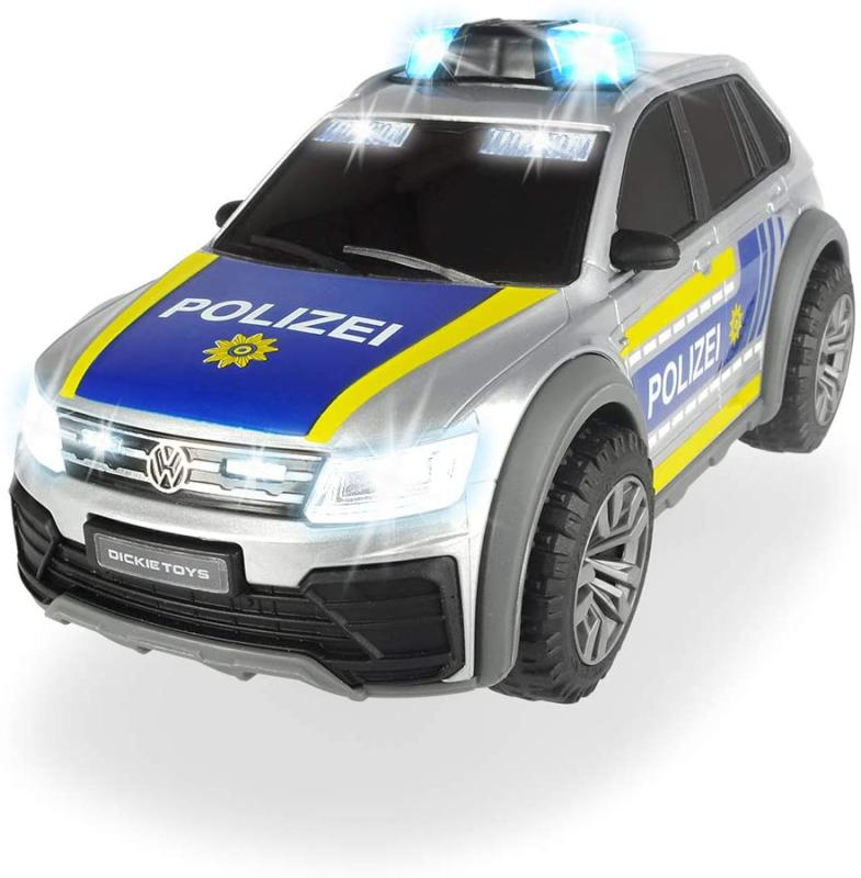 Dickie Toys 203714013 VW Tiguan R-Line Polizeiwagen Auto Licht Sound Größe 25 cm