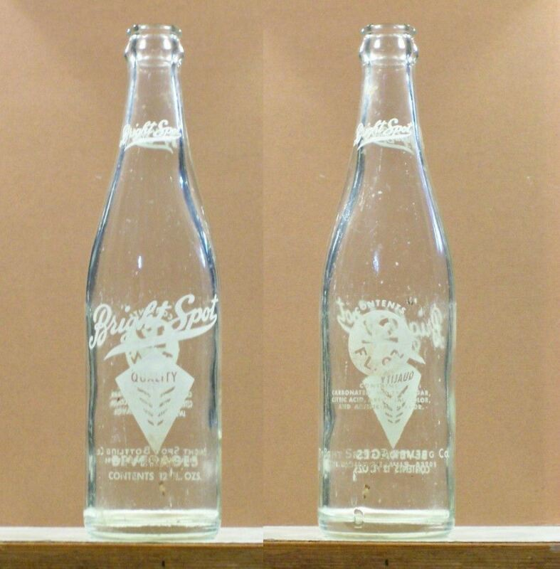 Bright Spot Old Vintage ACL 12 ounce Soda Bottle Milwaukee 53205 Wisconsin SB116
