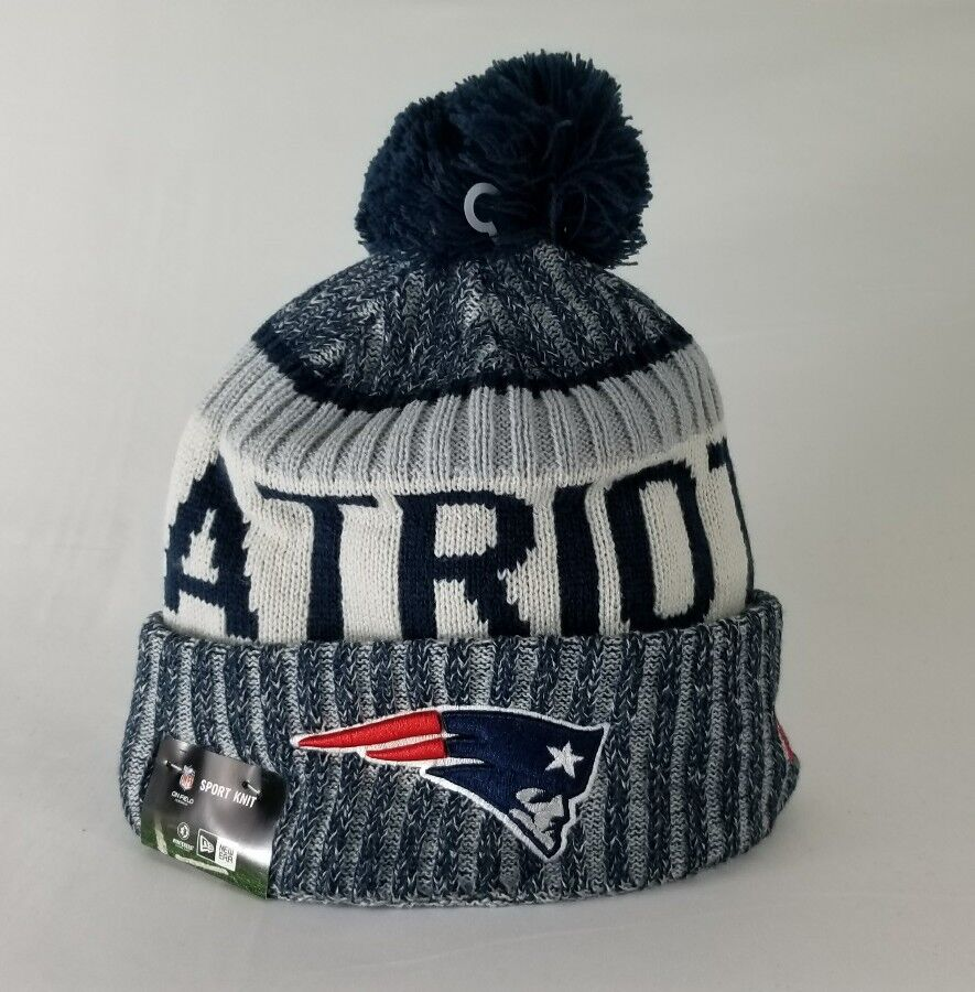 9328a3eb683 Authentic New England Patriots New Era 2017-2018 NFL On Field Beanie Knit  Hat
