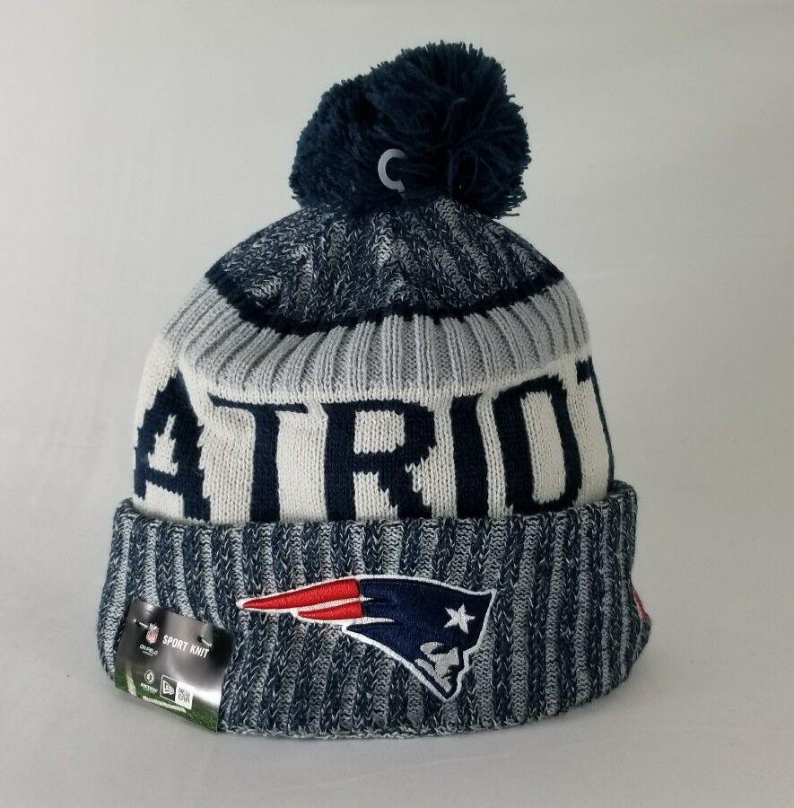 51badbc83 Authentic New England Patriots New Era 2017-2018 NFL On Field Beanie Knit  Hat