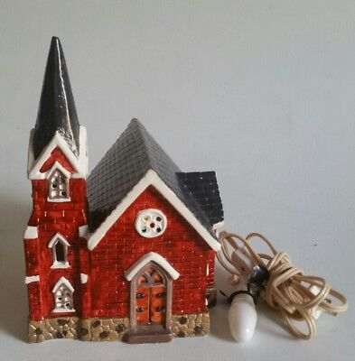 Yuletide Porcelain Christmas Victorian Village St Mary's Church With Light 1989