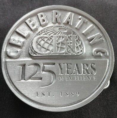 Cb I Cb   I Chicago Bridge Iron Celebrating 125 Years Of Excellence Belt Buckle