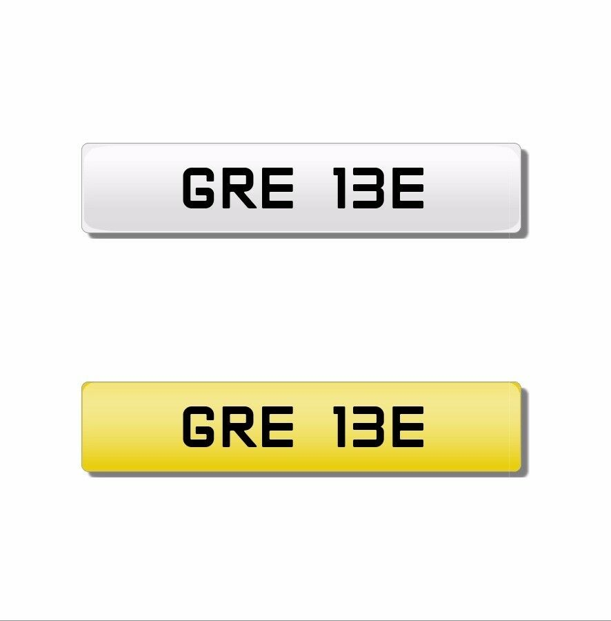 GRE cherished number plate GRE13E