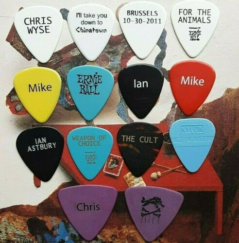 THE CULT 14-guitar pick UNCULTURED SALE - NEW LISTING