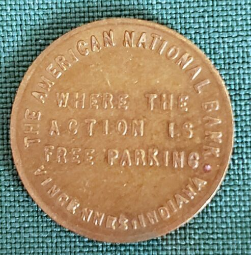 Vintage American National Bank Indiana Free Parking
