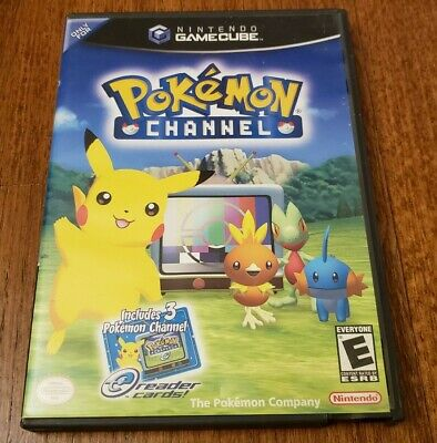 Pokémon Channel (Nintendo GameCube, 2003) - Complete with E-Reader Cards