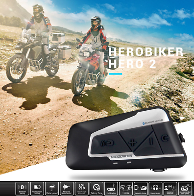 Waterproof 1200m Bluetooth Motorcycle Helmet Headset MP3 Intercom A2DP & EDR