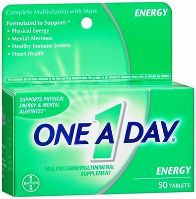 One-A-Day All Day Energy Tablets 50 Tablets Day Energy Multi Vitamin