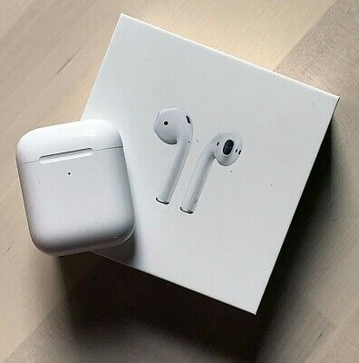Apple AirPods 2nd Wireless Earbuds with wireless charging case, NEW