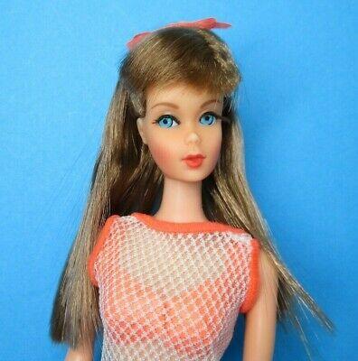 Vintage Barbie Doll TNT - TWIST 'N TURN GO GO CO CO Auburn Brown Hair Swimsuit
