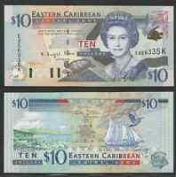 East Caribbean States - St. Kitts - 10 Dollars 2000 Unc Pick 38k -  - ebay.it