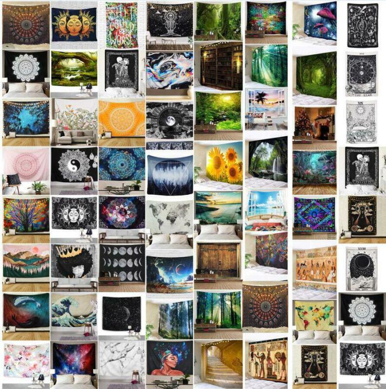 Hippie Psychedlic Mandala Tapestry Wall Hanging Art Blanket Home Decor USA Stock