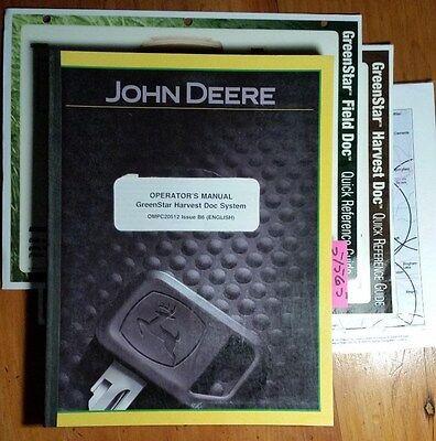 John Deere Greenstar Harvest Doc System Owner Operator Manual Ompc20512 B6 206