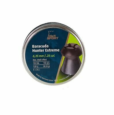 New H&N Sport Baracuda Hunter Extreme .25 Caliber Hollow Tip Pellets (150 ct.)